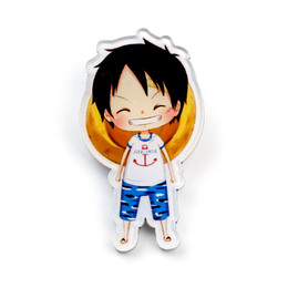 Значок Monkey D. Luffy Cute Anchor Ver. / One Piece