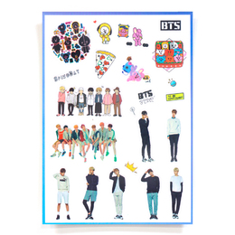 Наклейки BT21 & Group Set B Ver. / BTS