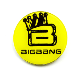 Значок BIG BANG Crown Yellow Ver. / BIG BANG