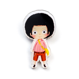 Значок Monkey D. Luffy Cute Afro Ver. / One Piece