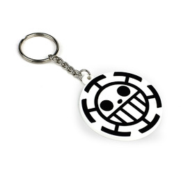 Брелок Heart Pirates Symbol Black-White Ver. / One Piece