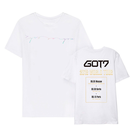Футболка GOT7 2018 WORLD TOUR 'EYES ON YOU' White S Ver. / GOT7