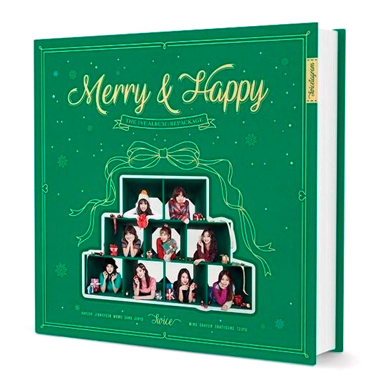 TWICE Repackage 1st Album: Merry & Happy (Merry Ver.) / CD