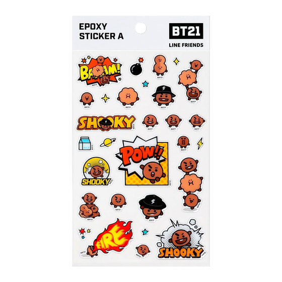Наклейки BT21 Shooky (SUGA) White Ver. / BTS