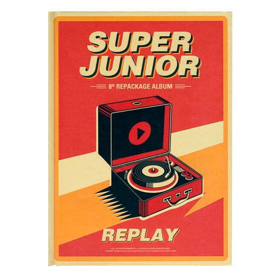 Super Junior 8th Album (repackage): Replay (Normal Edition) / CD