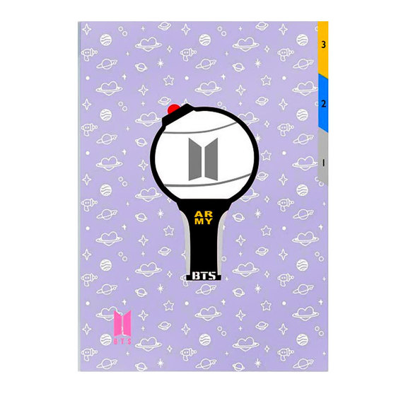 Папка-уголок BT21 Light Stick ARMY Ver. / BTS