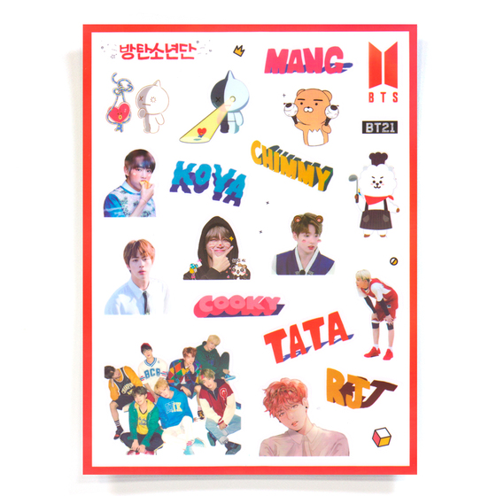 Наклейки BT21 & Group Set D Ver. / BTS