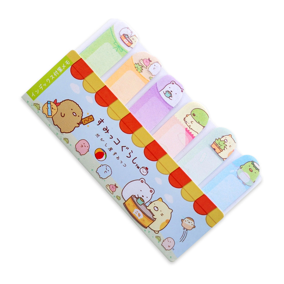 Набор стикеров Sumikko Gurashi Bookmark Green Ver.
