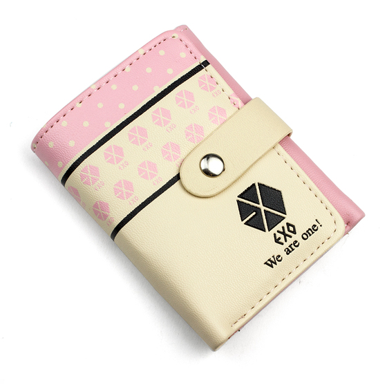Бумажник EXO Logotype Light Pink Small Ver. / EXO