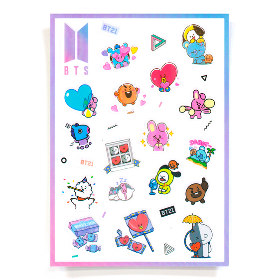 Наклейки BT21 Set A Ver. / BTS
